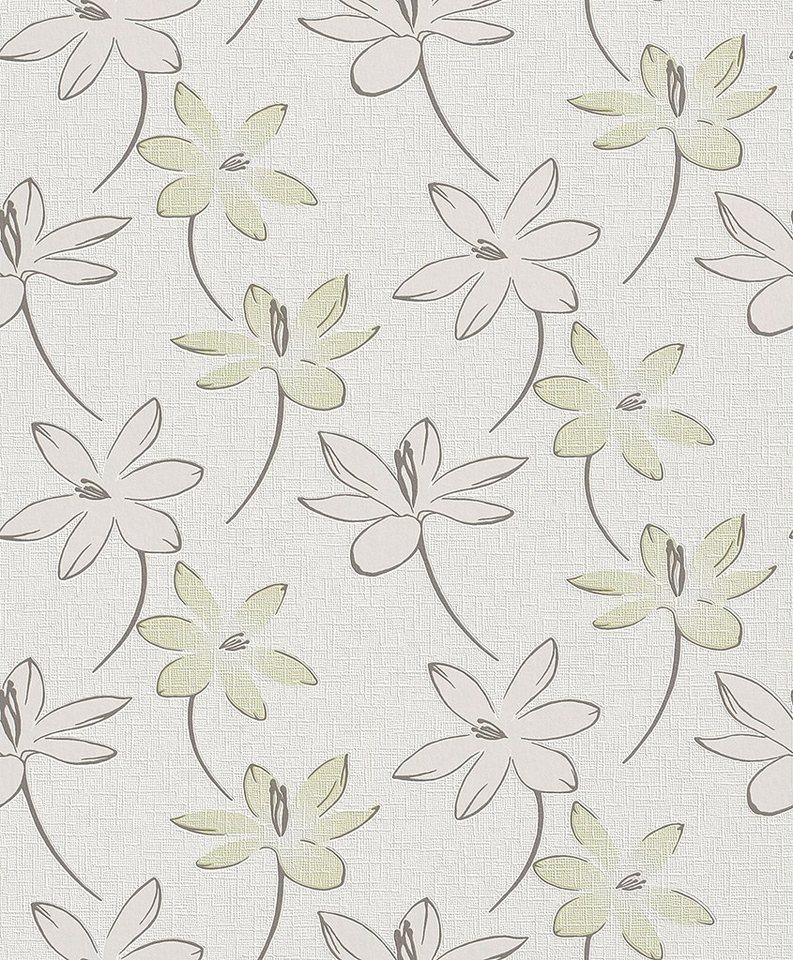 Vliestapete, Rasch, »Home Vision 1« in weiß, grün, braun