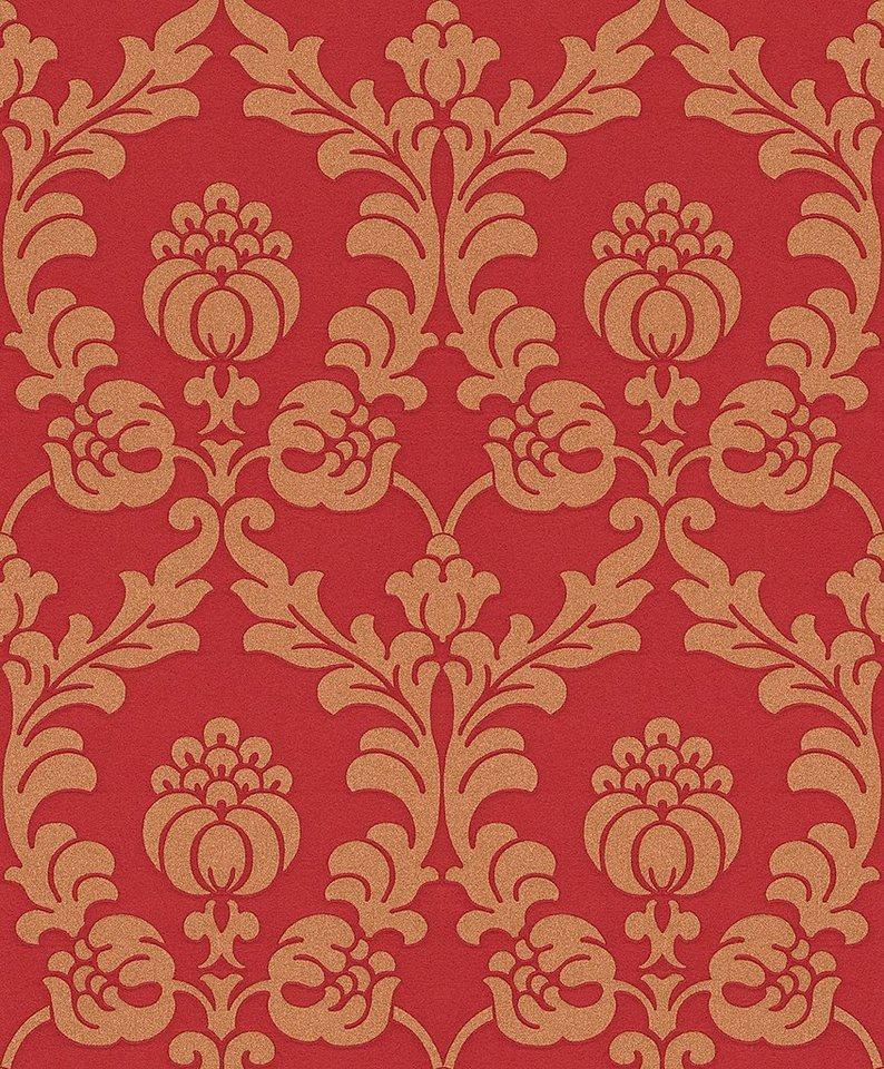 Vliestapete, Rasch, »Gentle Elegance 2« in rot, gold