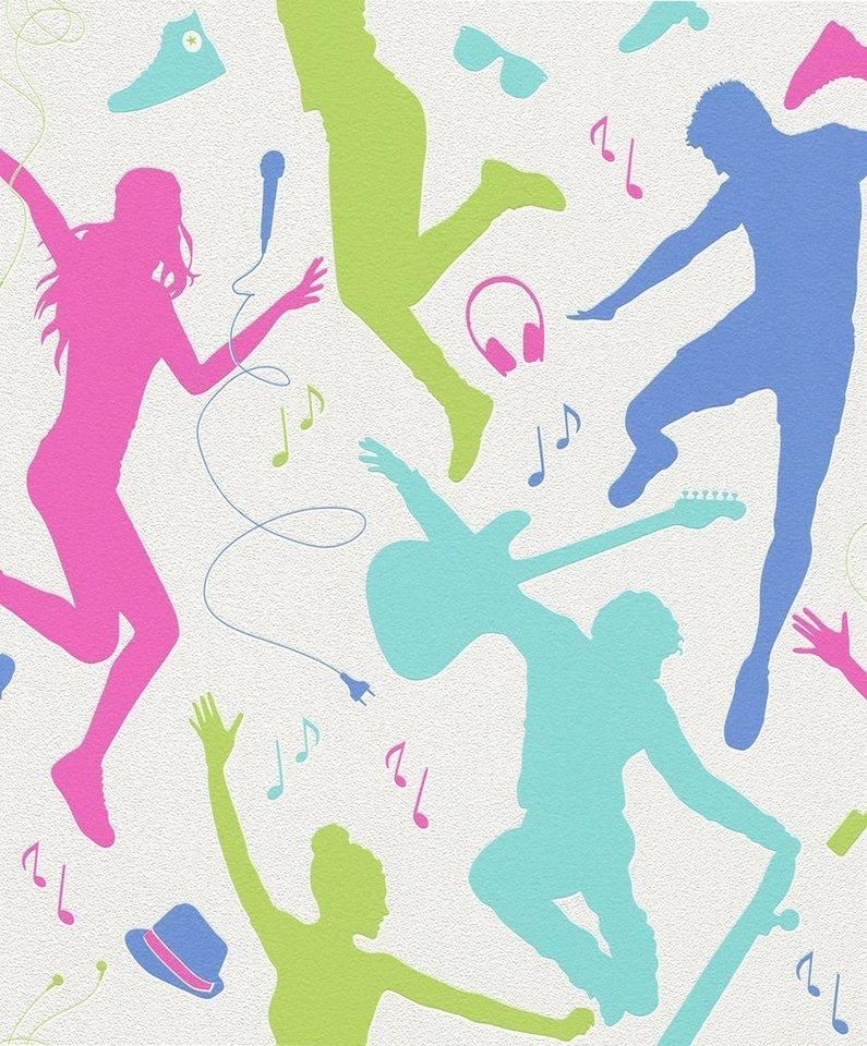 Vliestapete, Rasch, »Dancefloor« in mehrfarbig