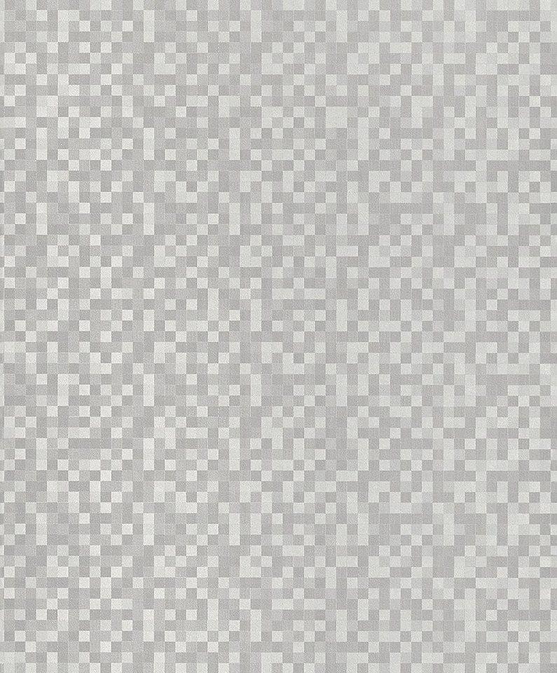 Vliestapete, Rasch, »Dress« in silber, grau