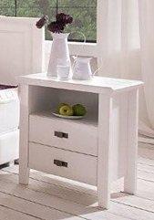 Nachttisch, Premium collection by Home affaire, »Casa« in weiß gebürstet