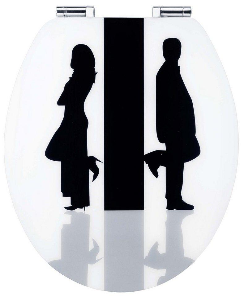 WC-Sitz »Art of Acryl«, Mit Absenkautomatik in schwarz