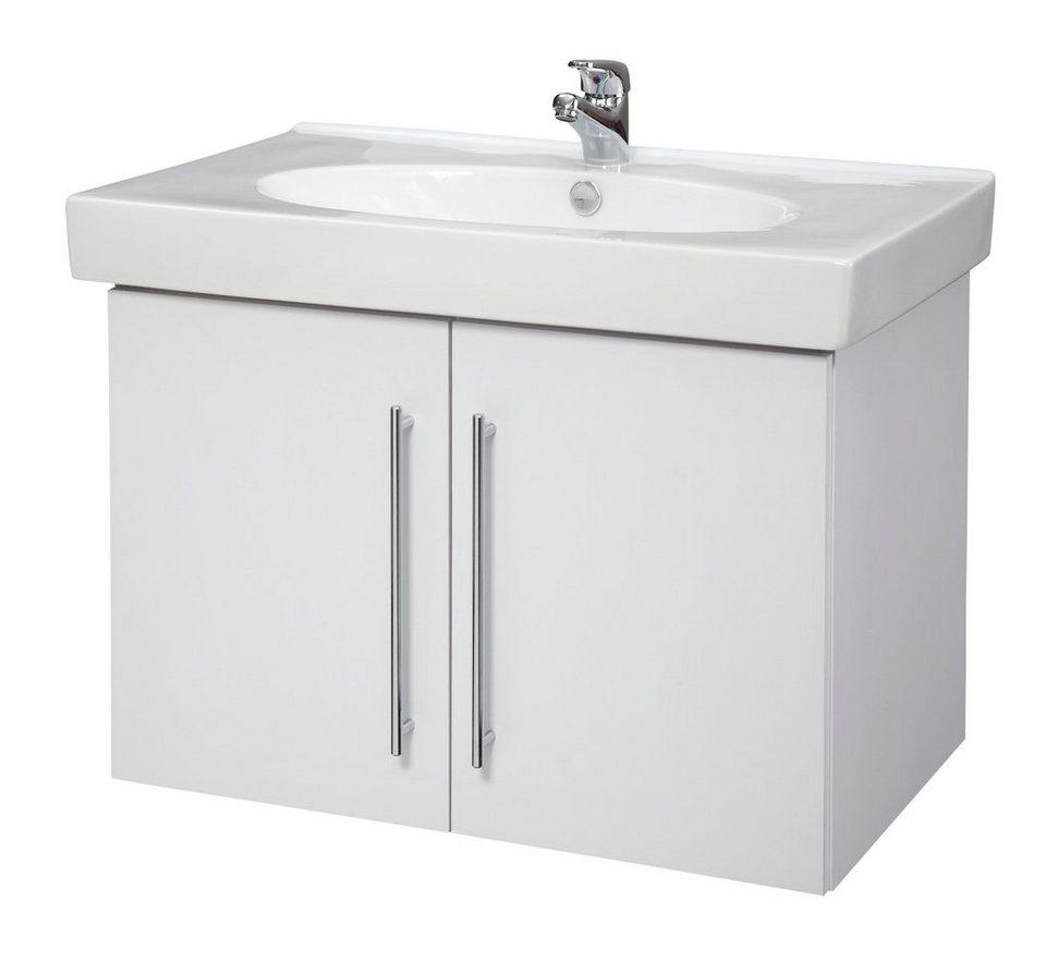 Waschtisch »Novara«, Breite 80 cm, (2-tlg.) in weiß