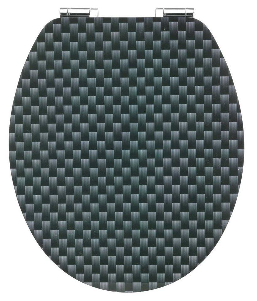WC-Sitz »Carbon«, Mit Absenkautomatik in schwarz