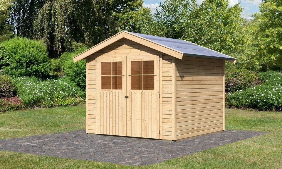 Gartenhaus »Tostedt 5«, BxT: 238x242 cm in natur