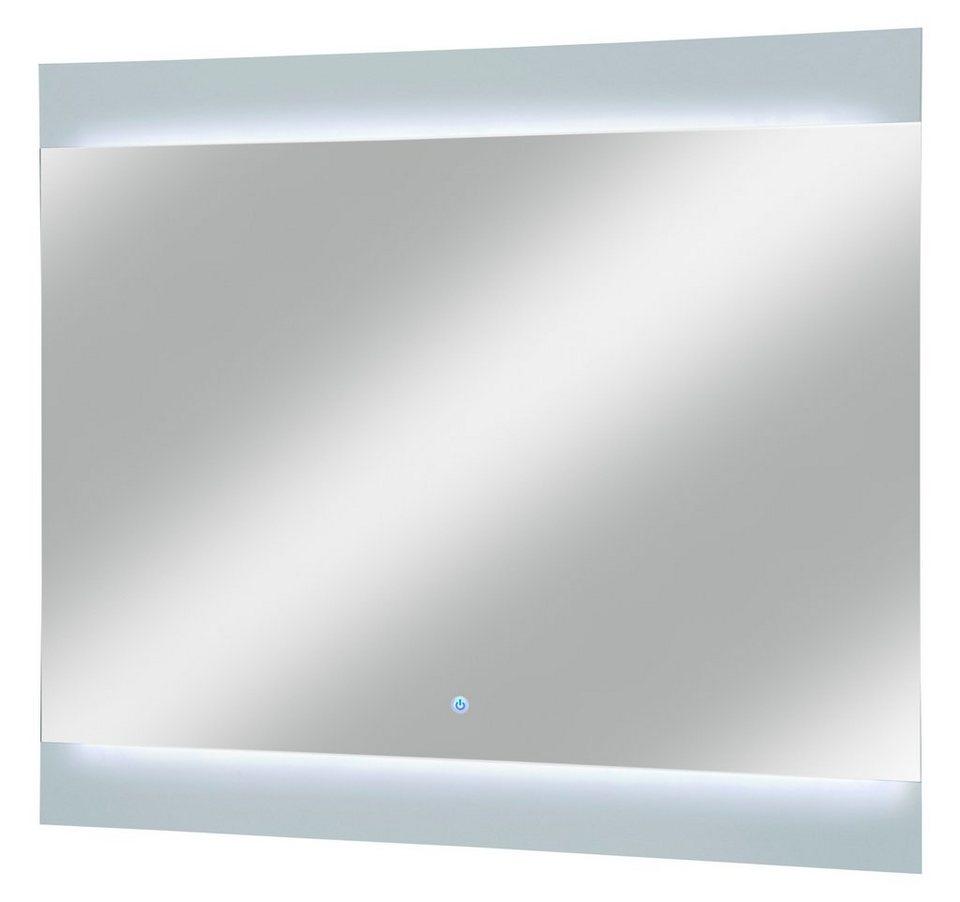 Spiegel / Badspiegel »Piuro« Breite 80 cm, mit Beleuchtung in weiß