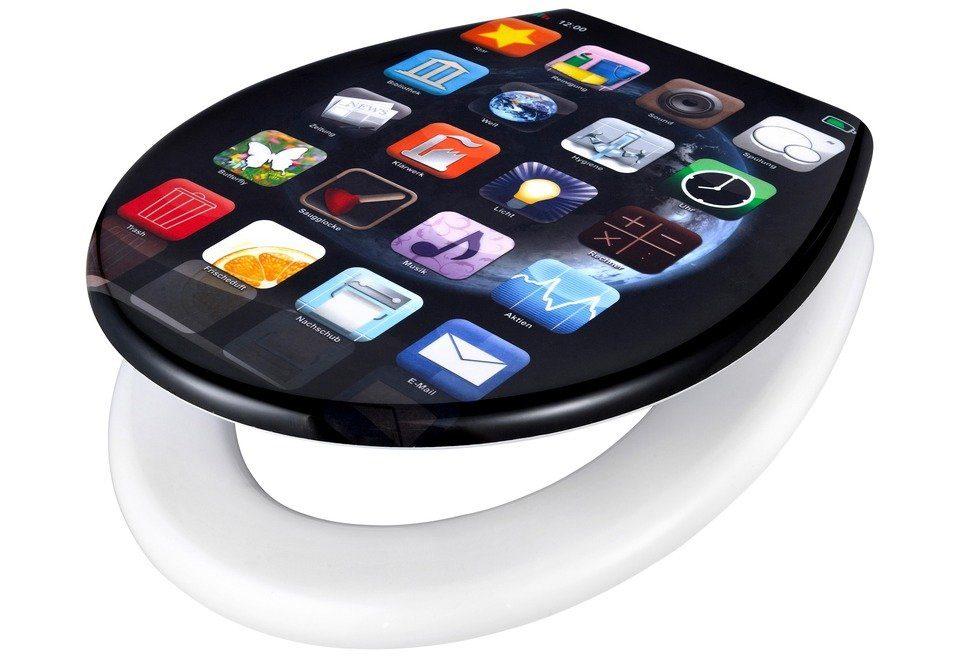 Adob WC-Sitz »Apps«, Mit Absenkautomatik