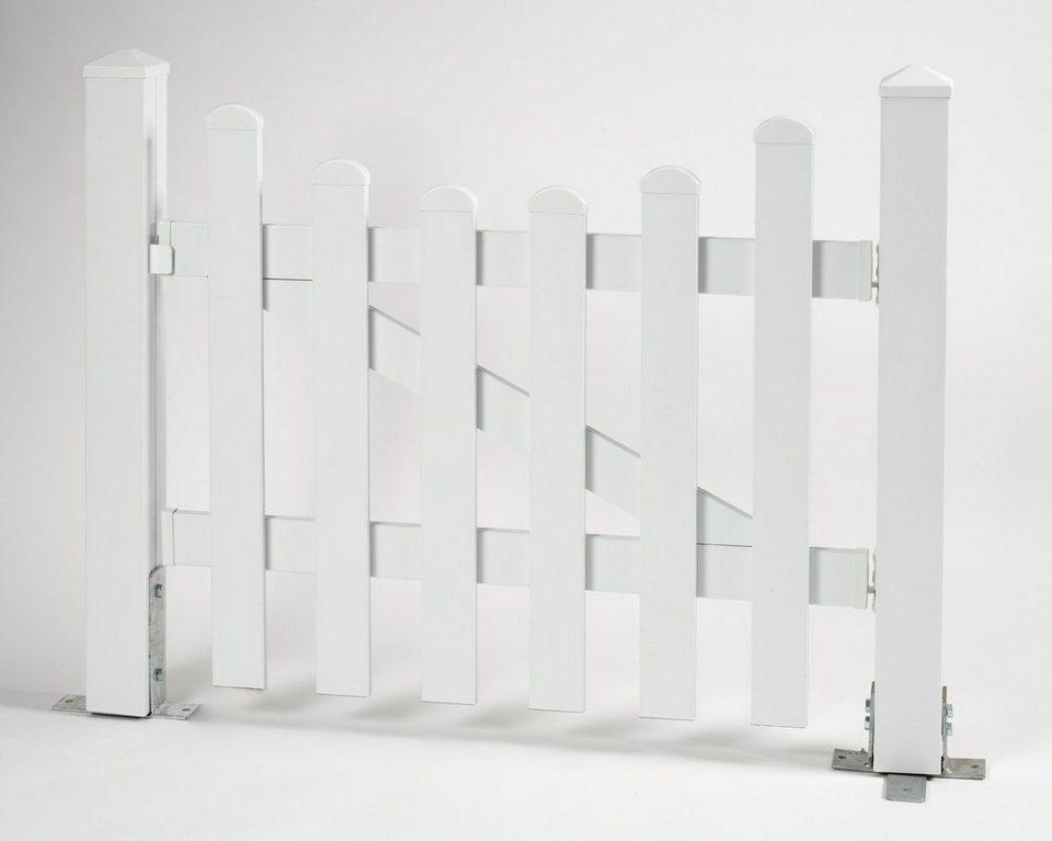 Zaun-Einzeltür mit Unterbogen »114 x 80 cm weiß«