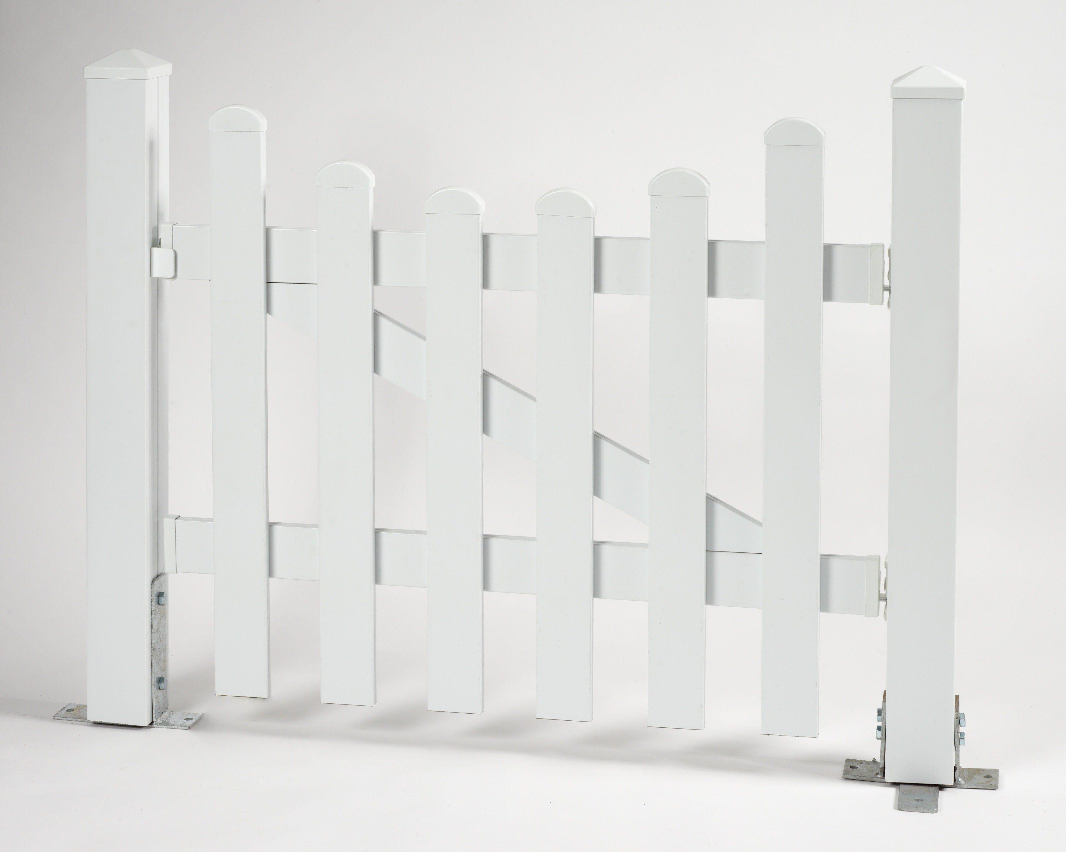 KM Meeth Zaun Gmbh Zaun-Einzeltür mit Unterbogen »114 x 80 cm weiß«