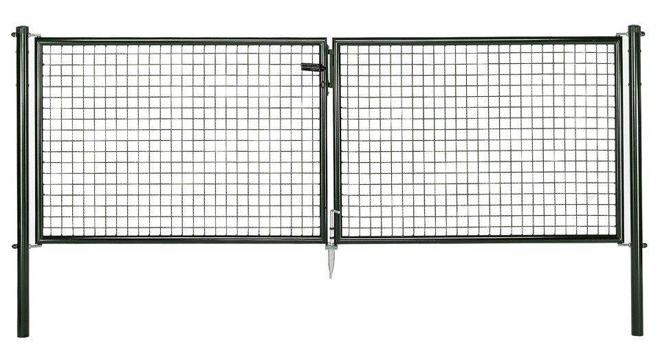 Wellengitter-Doppeltür für Maschendrahtzaun »300 cm breit grün«