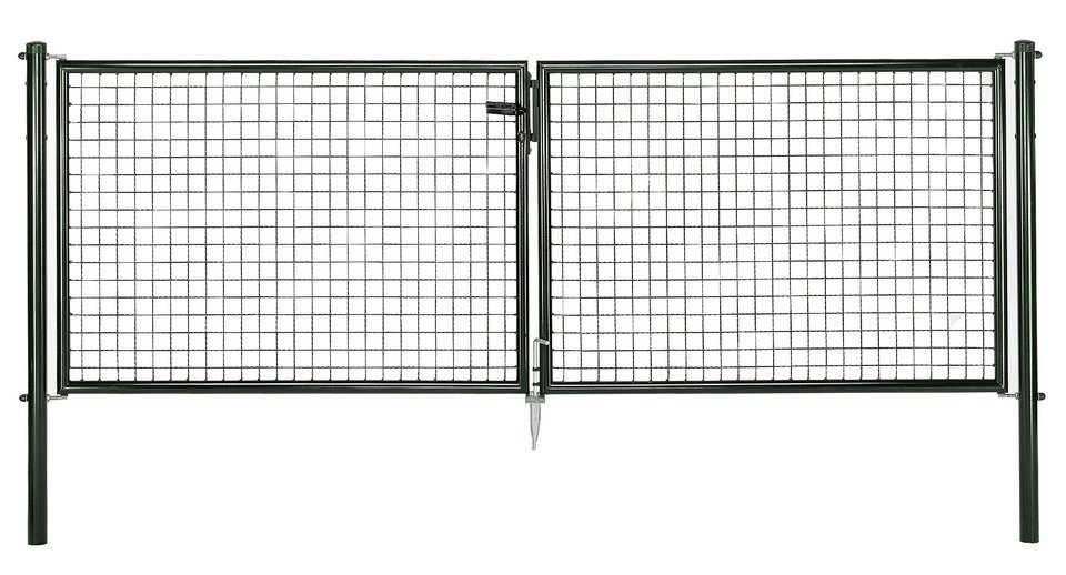 GAH Alberts Wellengitter-Doppeltür für Maschendrahtzaun »300 cm breit grün« | Garten > Zäune und Sichtschutz | GAH Alberts