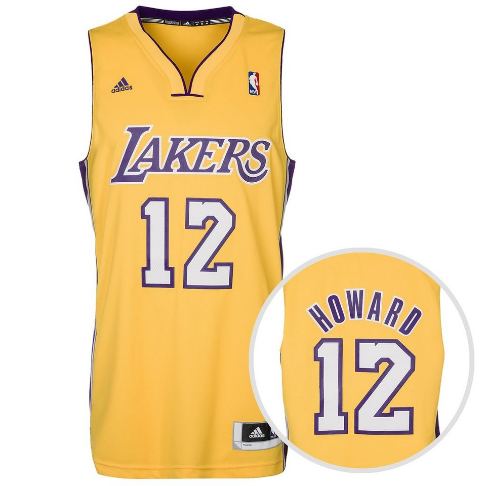 adidas Performance LA Lakers Howard Swingman Basketballtrikot Herren in gelb / lila