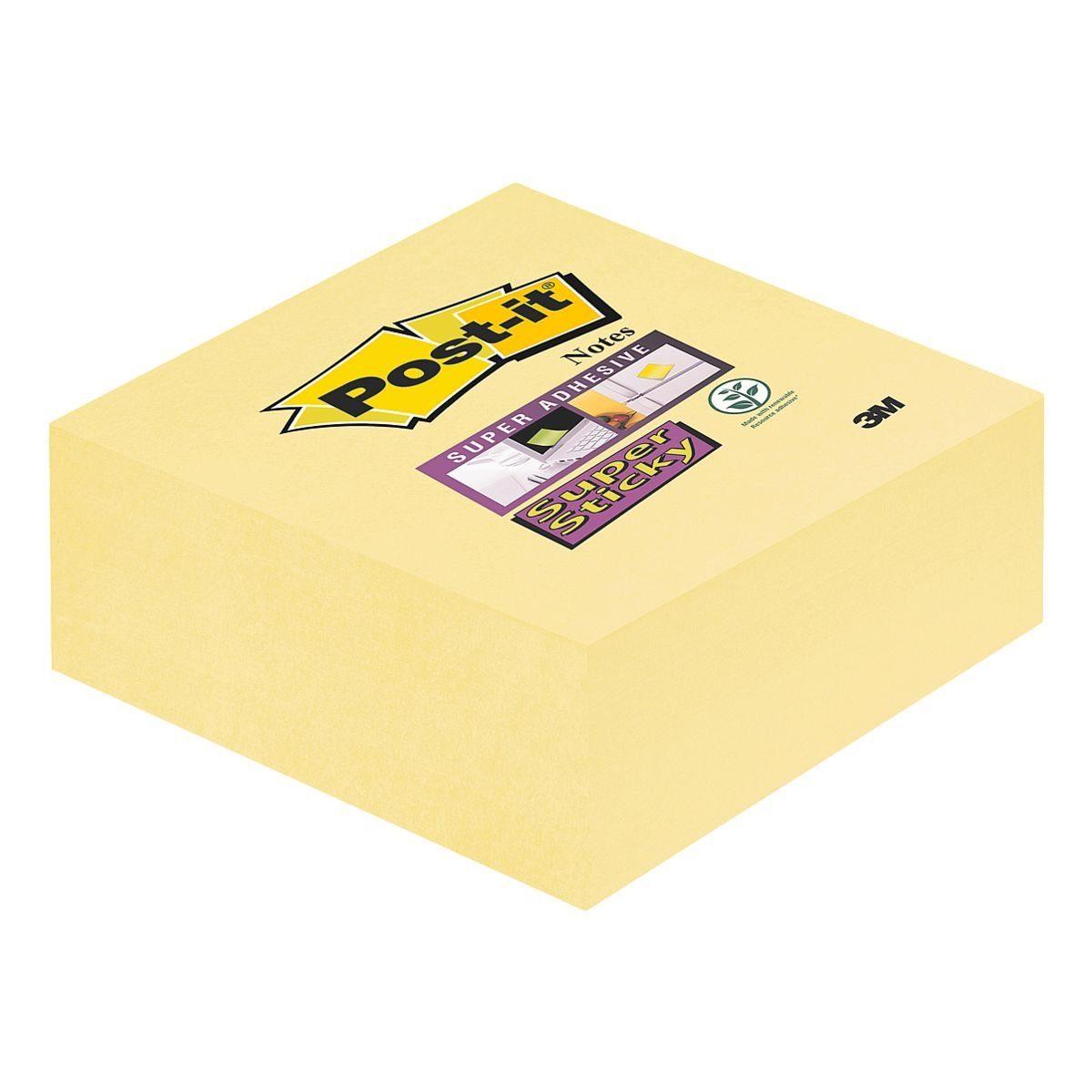 SUPERSTICKY Haftnotizwürfel gelb 76x76 mm 270 Blatt »Notes«