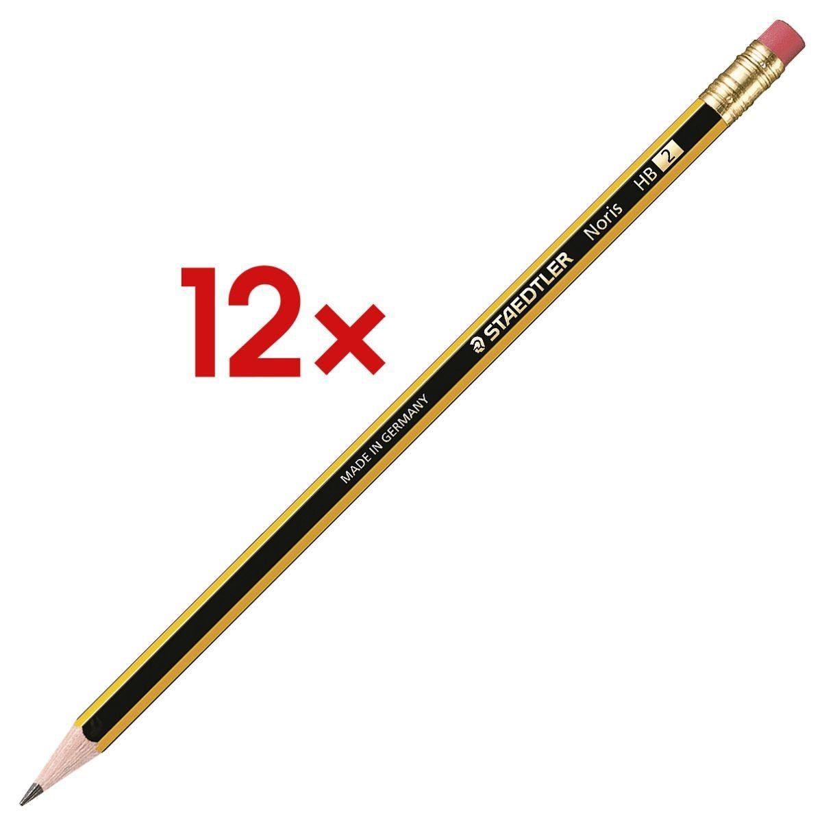 STAEDTLER 12x Holz-Bleistift »Noris 122« 1 Set