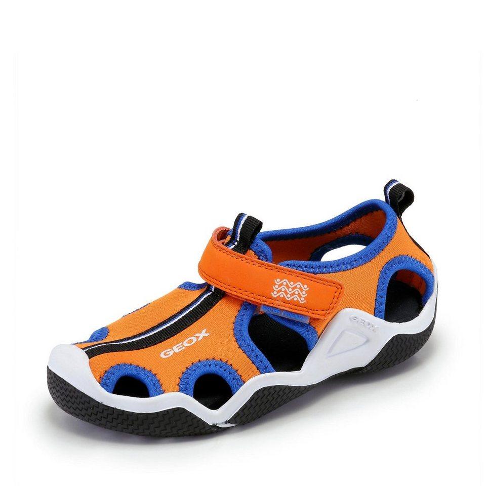 Geox Wader Sandale in orange/royalblau