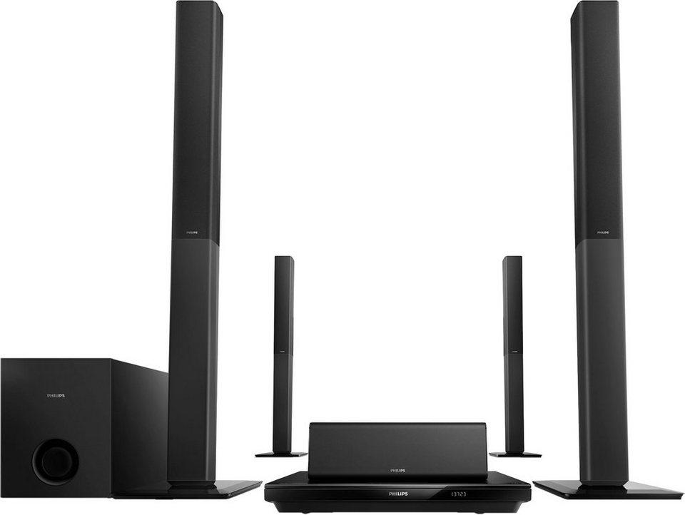Philips HTB3580 5.1 Heimkinosystem (3D Blu-ray Player, 1.000 W, Bluetooth, NFC) in schwarz