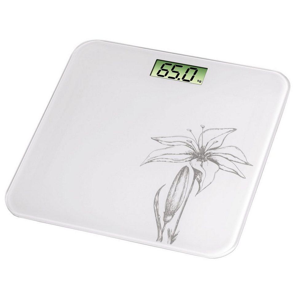 Xavax Digitale Personenwaage für Körpergewicht, Ultraflach »Liliana, Weiß« in Weiß