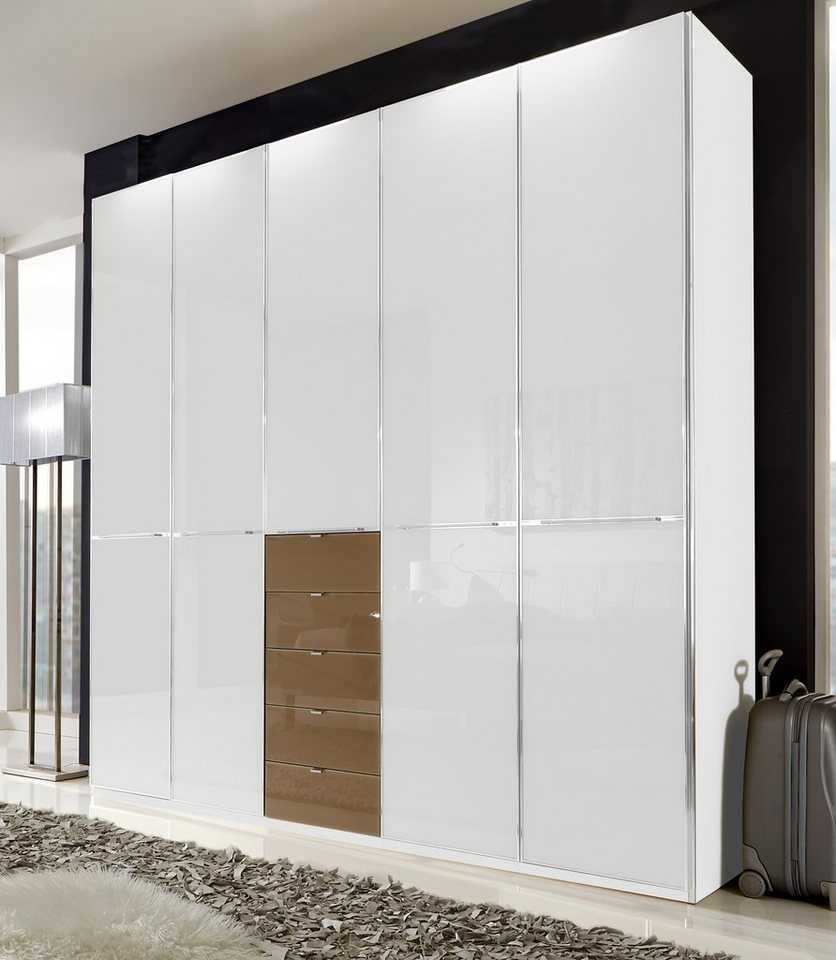 wiemann kleiderschrank shanghai mit edler glasfront. Black Bedroom Furniture Sets. Home Design Ideas