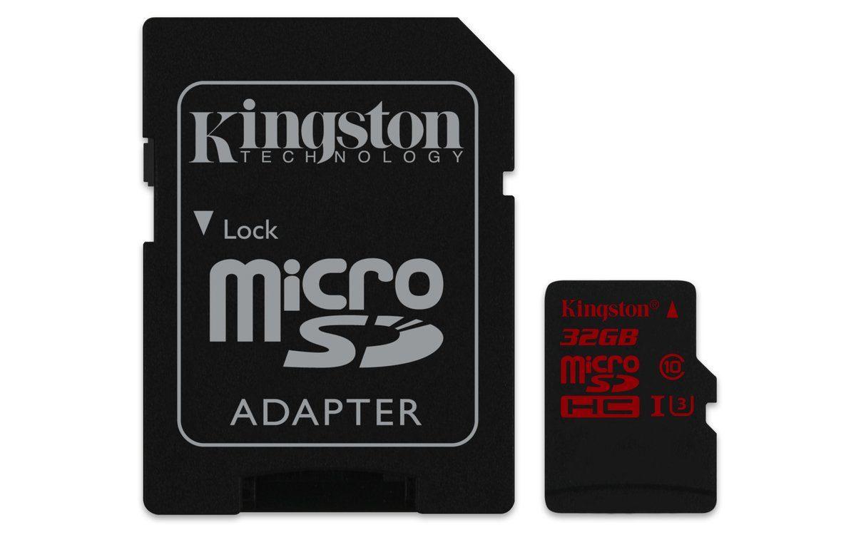 Kingston Speicherkarte »microSDHC Class 10 UHS-3 mit Adapter, 32GB«
