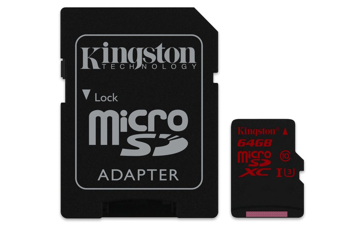 Kingston Speicherkarte »microSDXC Class 10 UHS-3 mit Adapter, 64GB«
