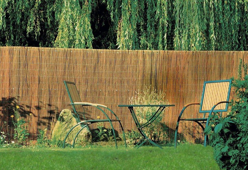 videx natur sichtschutzmatte bambus rund kaufen otto. Black Bedroom Furniture Sets. Home Design Ideas