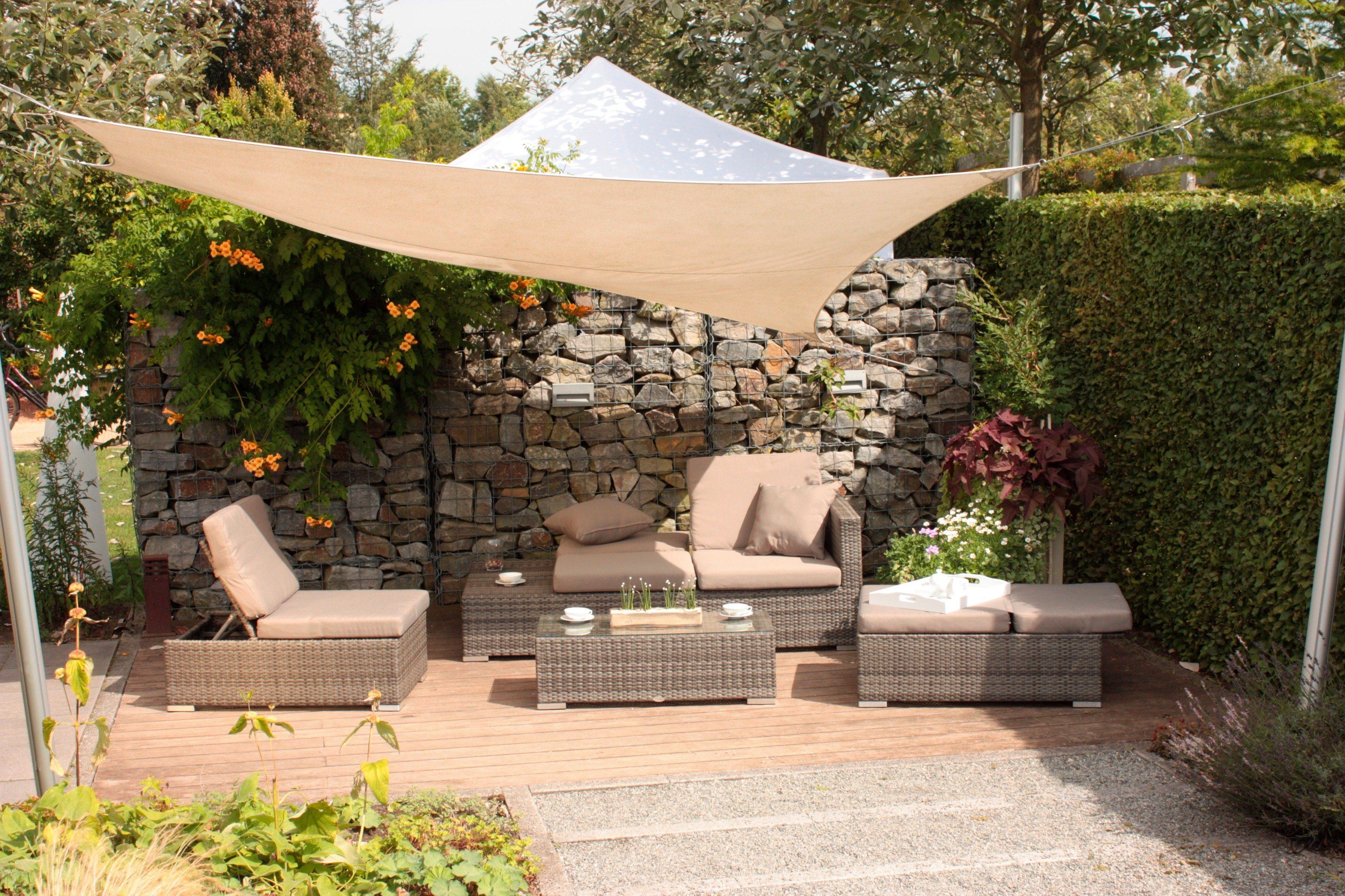 10-tgl. Loungeset »Alcudia«, 2er-Sofa, 2 Sessel, Tisch 101x44,5 cm, Polyrattan, grau, verstellbar