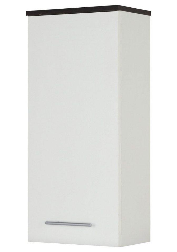 KESPER Hängeschrank »Sevilla«, Breite 33 cm in weiß/wengefarben