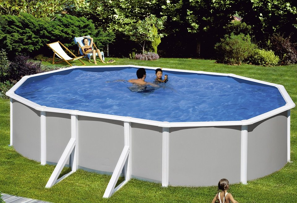 Mypool set 5 tlg ovalpool grau 132 cm tiefe in 3 for Garten pool tiefe