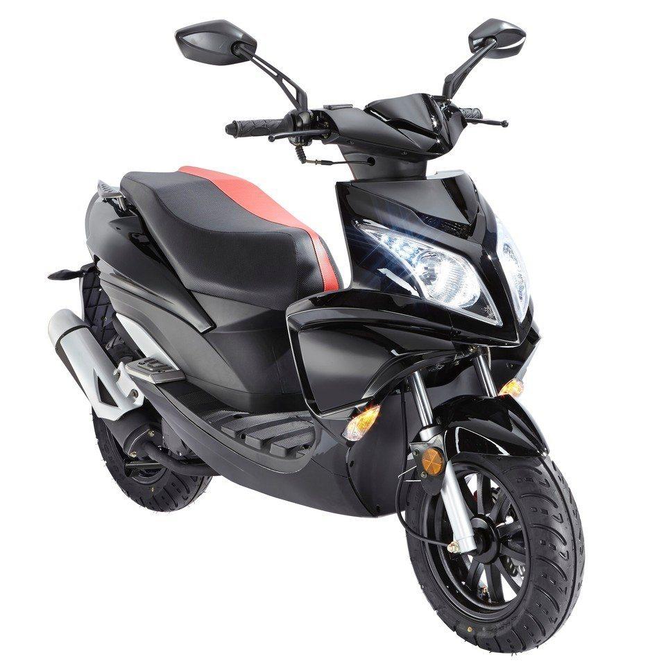 Motorroller »Force«, 50 ccm, 45 km/h in schwarz