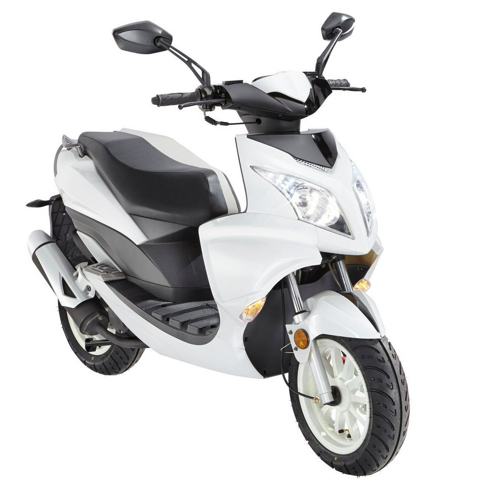 Mofa »Force«, 50 ccm, 25 km/h, entdrosselbar in weiß