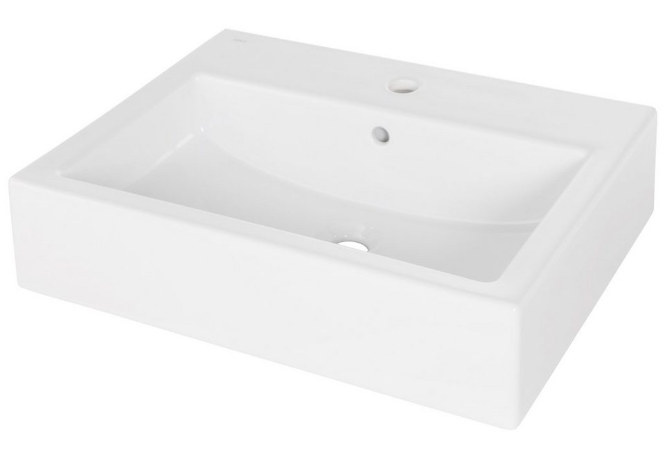 Keramik Aufsatz-Waschbecken / Waschtisch »Urano« 60 cm in weiß