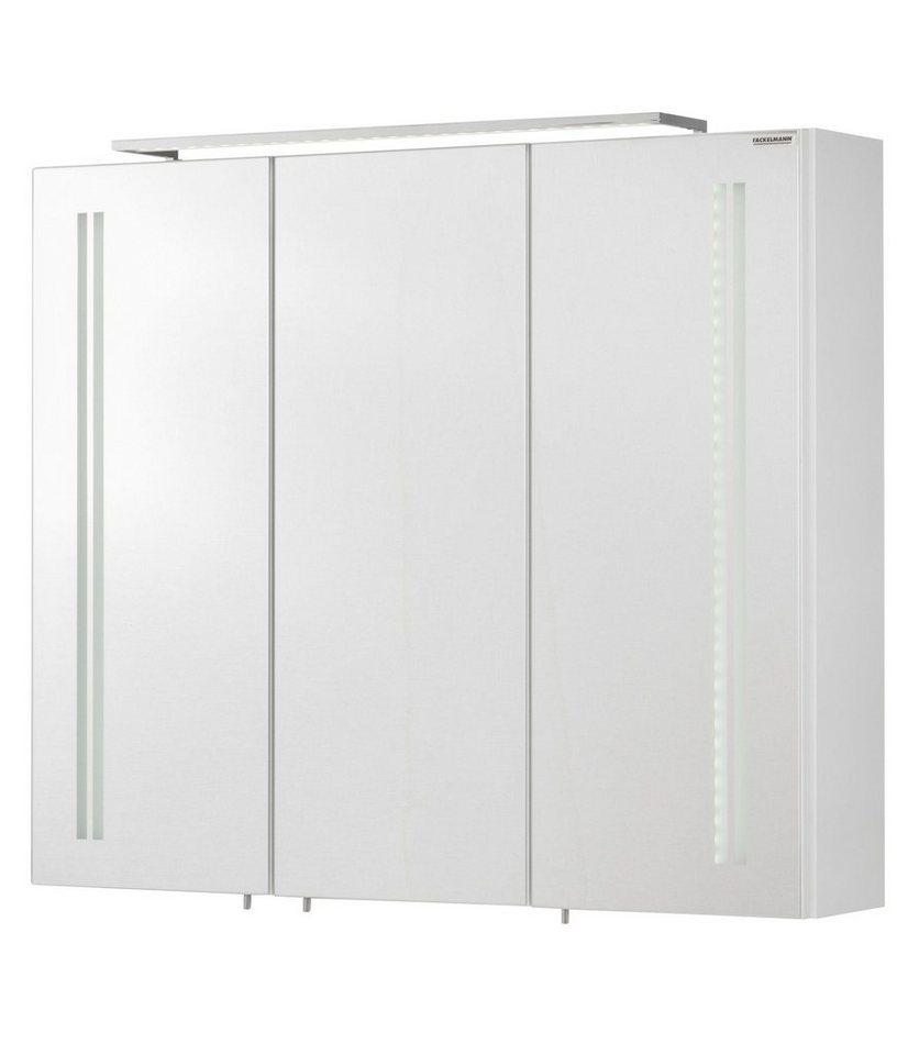 Spiegelschrank »Lugano« Breite 80 cm, mit LED-Beleuchtung in weiß