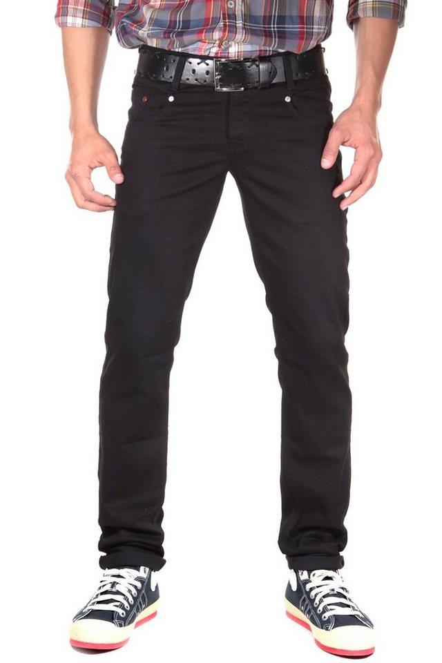 Bright Jeans Hüftjeans (stretch) straight fit in schwarz