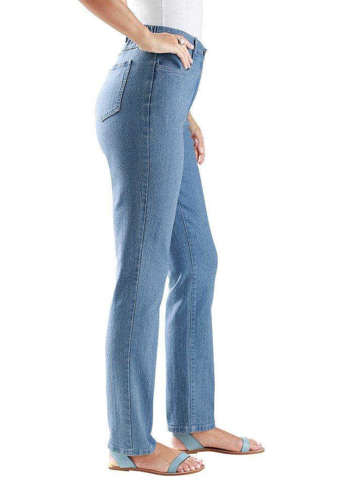 Classic Basics Jeans mit seitlichem Dehnbund in blue-bleached