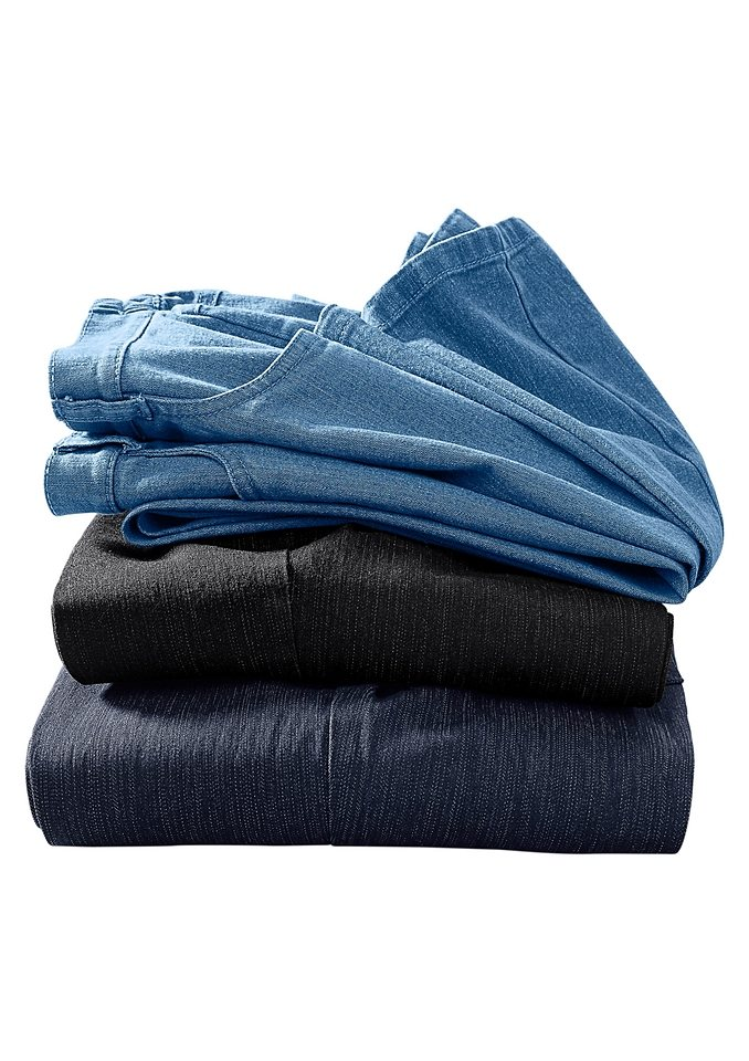 Classic Basics Jeans mit seitlichem Dehnbund in dark blue