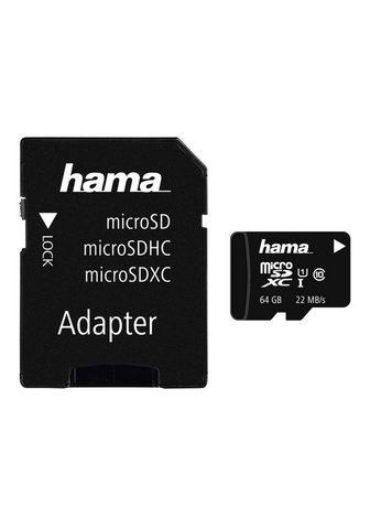 HAMA Atminties kortelė microSDXC 64GB Class...