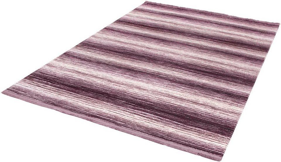 Teppich, angora HALI, »TARZ 3132«, handgearbeitet in violett