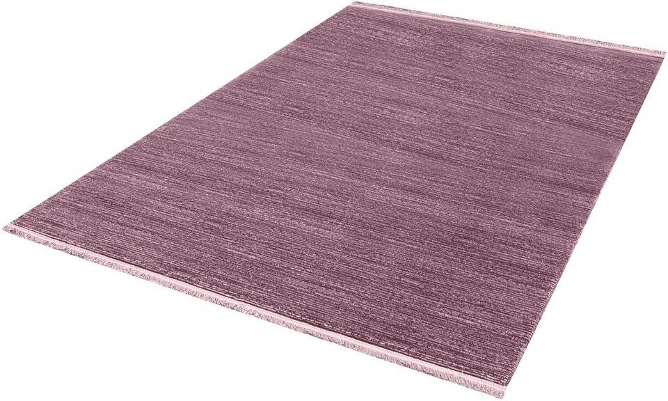 Teppich, angora HALI, »TARZ 3121«, handgearbeitet in violett