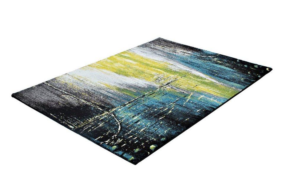 Teppich »PRIME 224«, Trend teppiche in blau