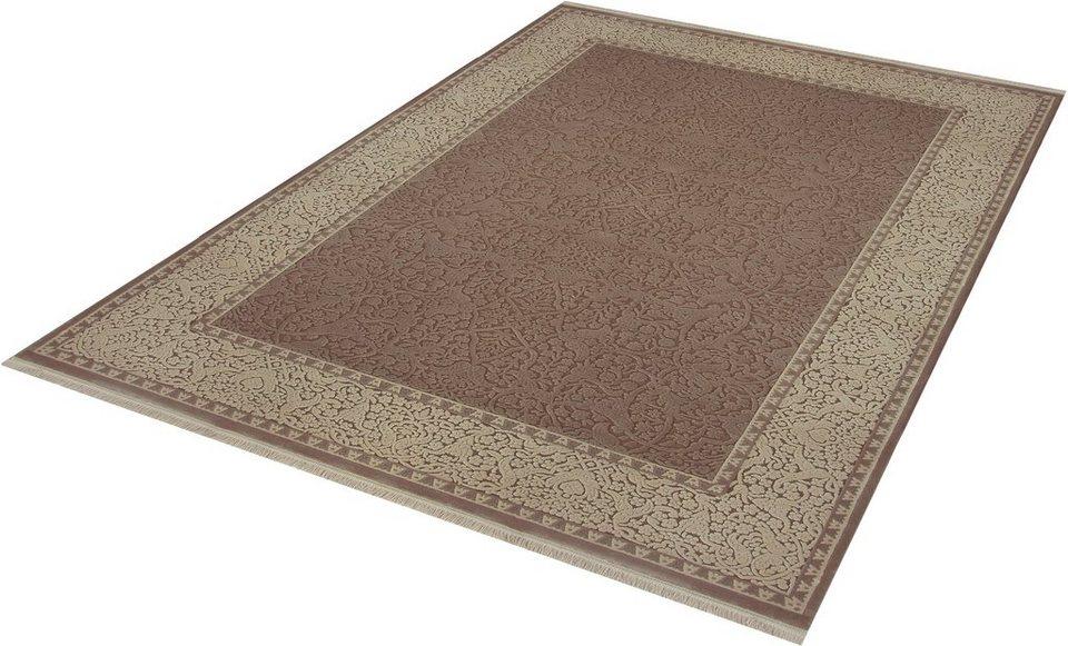 Teppich, angora HALI, »EVEREST 3331«, handgearbeitet in braun