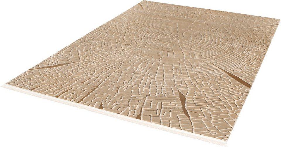 Teppich, angora HALI, »EVEREST 3332«, handgearbeitet in braun