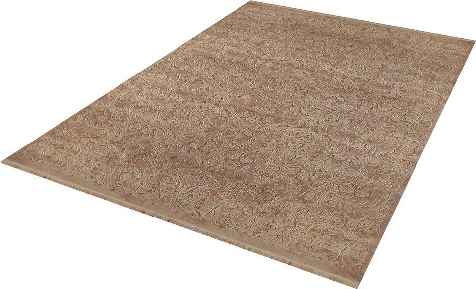 Teppich, angora HALI, »EVEREST 3336«, handgearbeitet in braun
