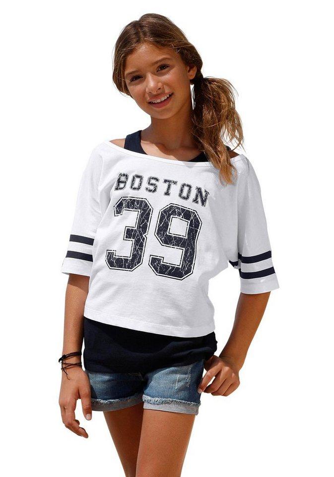 Arizona Shirt bedruckt (Set), für Mädchen in Weiß