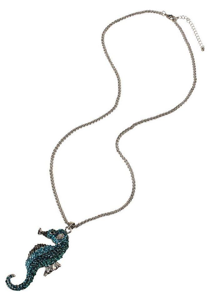 J. Jayz Kette »mit Seepferdchen« in silbefarben-türkis