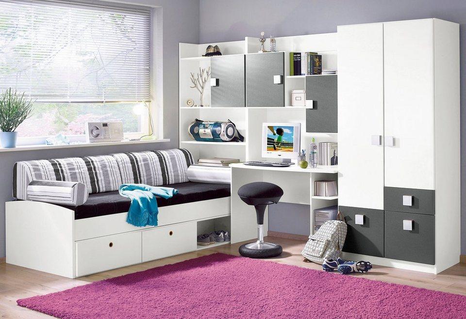 rauch Jugendzimmer (5-tlg.) in weiß/anthrazit