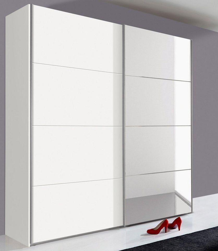 Wimex Schwebetürenschrank mit Selbsteinzug und Schubkasteneinzug (3-tlg.) in weiß