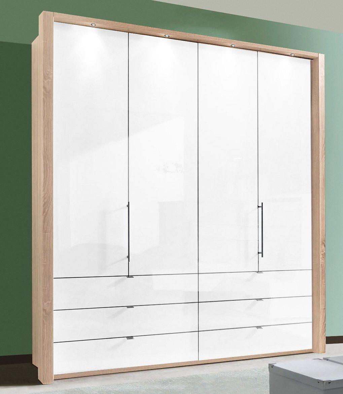 WIEMANN Panorama-Falttürenschrank »Loft« mit Glasfront in 3 Breiten | Schlafzimmer > Kleiderschränke > Drehtürenschränke | Metall | WIEMANN