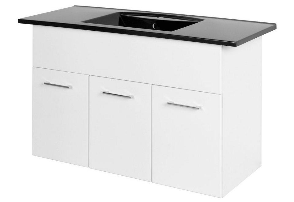 Waschplatz »Next«, Breite 120 cm, (2-tlg.) in weiß/weiß