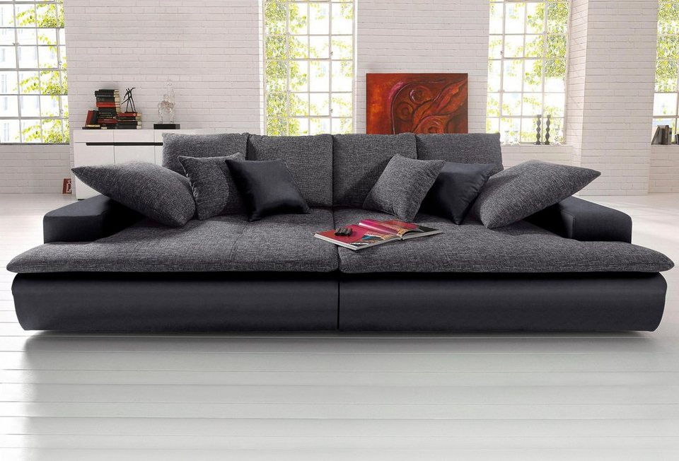 kunstleder sofa schwarz latest moderne with kunstleder. Black Bedroom Furniture Sets. Home Design Ideas