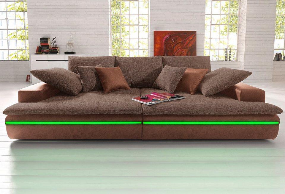 Big-Sofa, wahlweise in 2 Größen in mokka